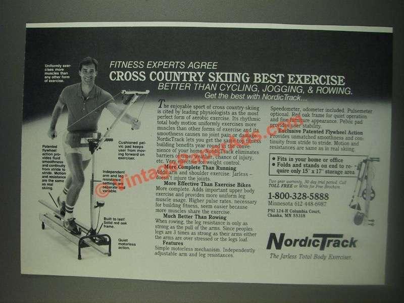 cross country skiing machine nordictrack