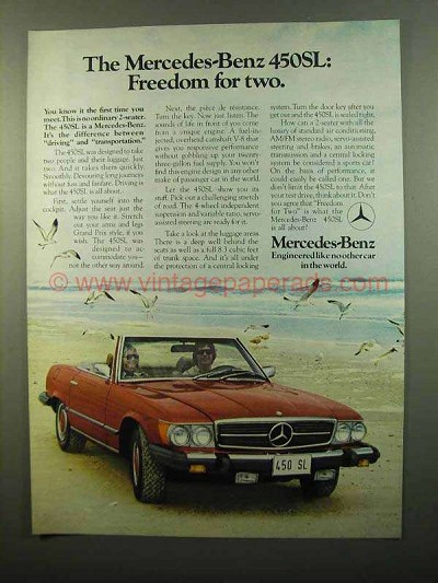 1974 mercedes benz 450se sedan ad better resale value for Mercedes benz residual value