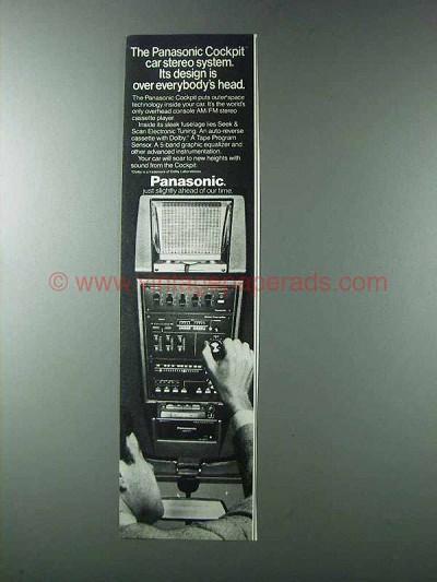Car Audio System >> 1981 Panasonic Cockpit Car Stereo System Ad